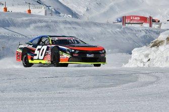 NASCAR Whelen Euro Series organizers Team FJ tested the series' cars on the snow