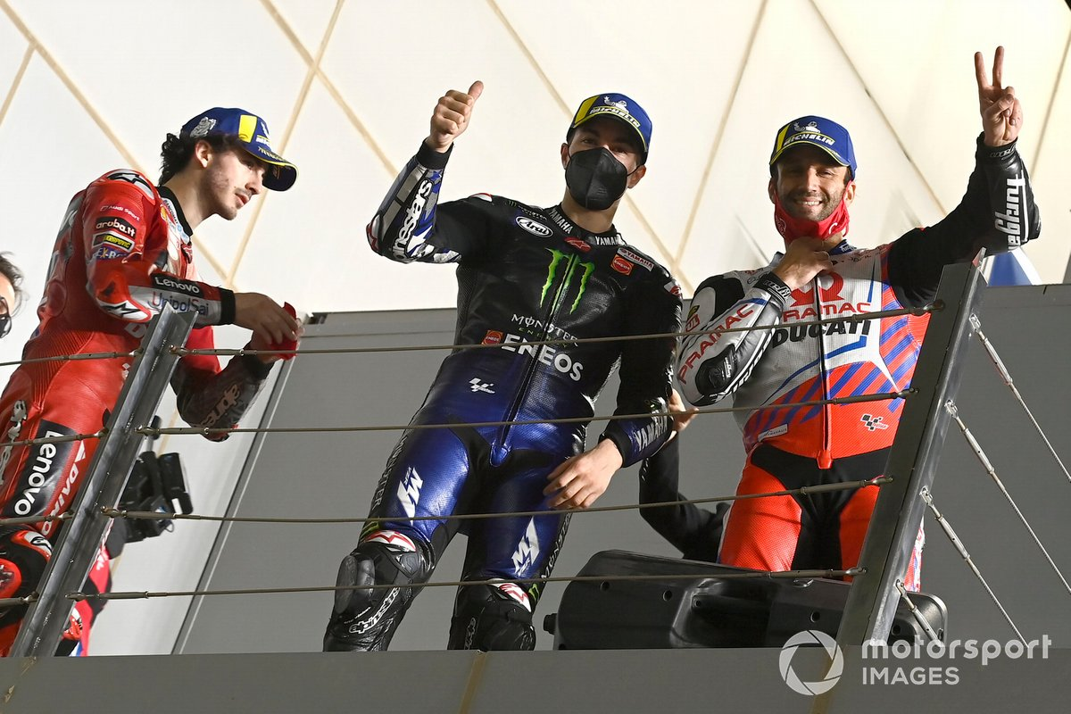 Francesco Bagnaia, Ducati Team, Maverick Vinales, Yamaha Factory Racing, Johann Zarco, Pramac Racing