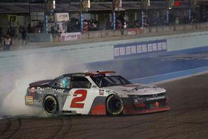Myatt Snider, Richard Childress Racing, Chevrolet Camaro TaxSlayer celebrates his win