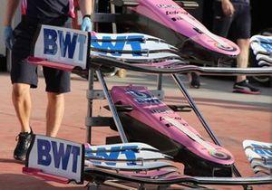 Detalle del alerón delantero del Racing Point RP20