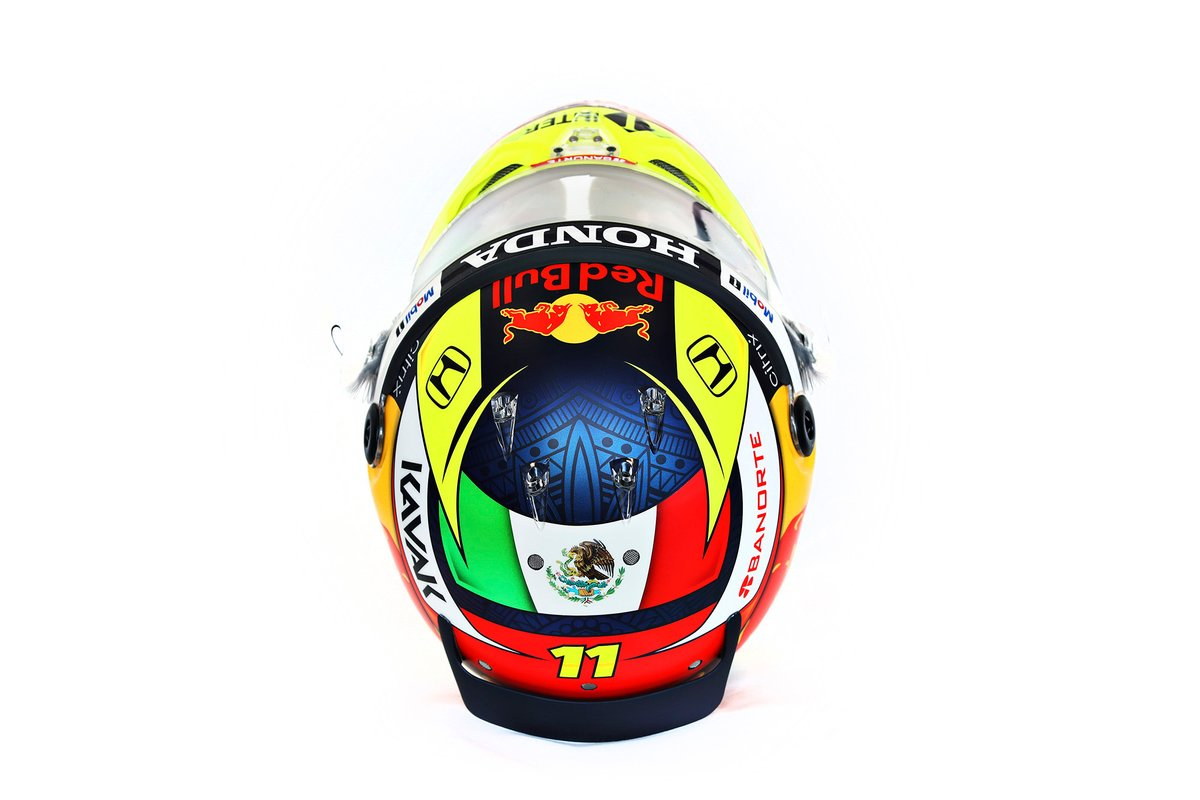 Helmet of Sergio Perez, Red Bull Racing