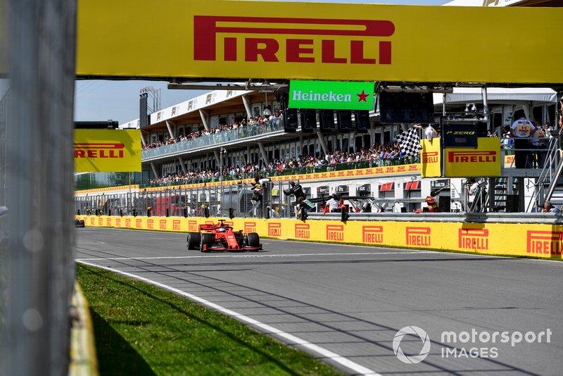 Sebastian Vettel, Ferrari SF90 taglia il traguardo