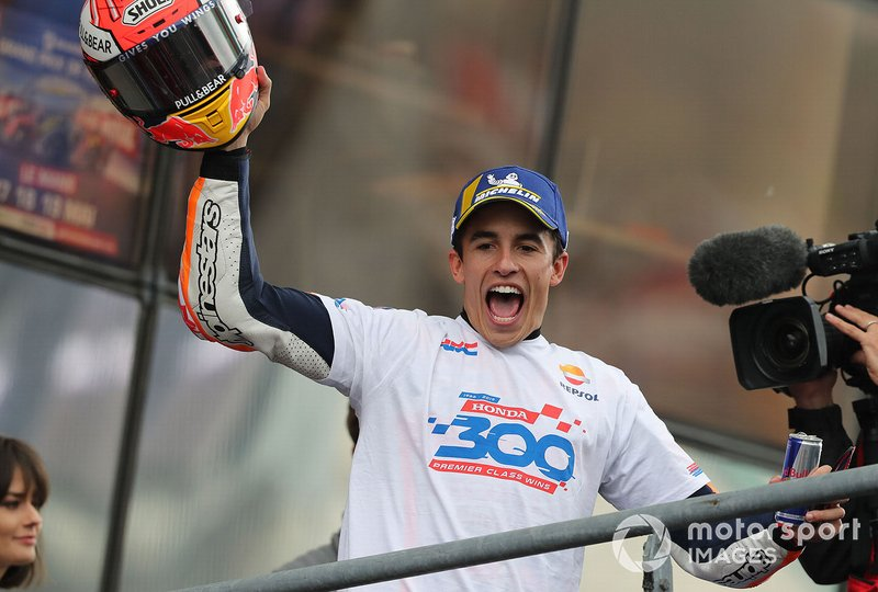 Marc Marquez, ganador de la victoria 300 de Honda