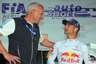 Eric Jordan, Directeur du comité d'organisation du Rallye du Chablais, Sébastien Loeb