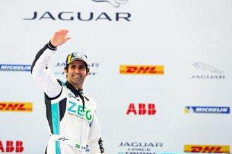 Sérgio Jimenez, Jaguar Brazil Racing, 3rd position, on the podium
