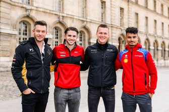 German drivers Andre Lotterer, DS TECHEETAH, Daniel Abt, Audi Sport ABT Schaeffler, Maximilian Günther, Dragon Racing, and Pascal Wehrlein, Mahindra Racing