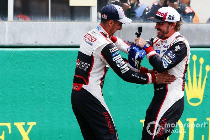 #8 Toyota Gazoo Racing Toyota TS050: Sébastien Buemi and Fernando Alonso win the Le Mans 24 Hours and the FIA World Endurance Championship Super Season 2018 / 2019