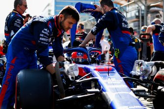 Daniil Kvyat, Toro Rosso STR14, sur la grille