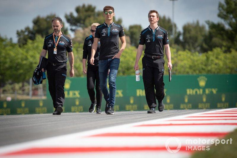 George Russell, Williams Racing fait un trackwalk