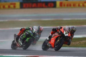 Chaz Davies, Aruba.it Racing-Ducati Team, Leon Haslam, Kawasaki Racing Team