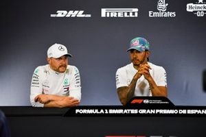 Valtteri Bottas, Mercedes AMG F1, 2nd position, and Lewis Hamilton, Mercedes AMG F1, 1st position, in the Press Conference