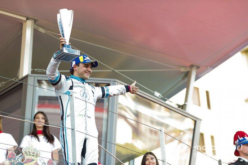 Felipe Massa, Venturi Formula E celebrates 3rd position on the podium