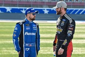 Ricky Stenhouse Jr., Roush Fenway Racing, Ford Mustang Fastenal and Corey LaJoie, Go FAS Racing, Ford Mustang Freedom Hard