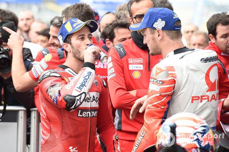 2. Andrea Dovizioso, Ducati Team, mit Jack Miller, Pramac Racing
