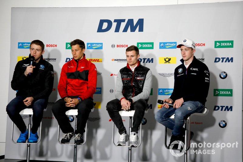 Press Conference, Paul Di Resta, R-Motorsport, Loic Duval, Audi Sport Team Phoenix, Jonathan Aberdein, Audi Sport Team WRT, Joel Eriksson, BMW Team RBM