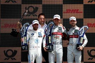 Podium: Le vainqueur Nico Müller, Audi Sport Team Abt Sportsline, le deuxième Philipp Eng, BMW Team RBM, le troisième René Rast, Audi Sport Team Rosberg