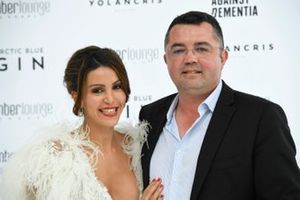 Eric Boullier and his wife Tamara Boullierat the Amber Lounge Fashion Show