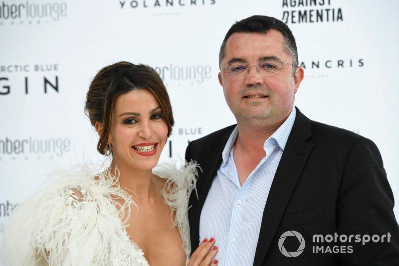 Eric Boullier ve eşi Tamara Boullier, Amber Lounge moda şovu