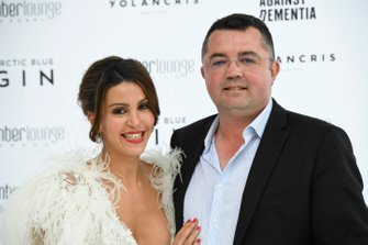 Eric Boullier and his wife Tamara Boullier at the Amber Lounge Fashion Show