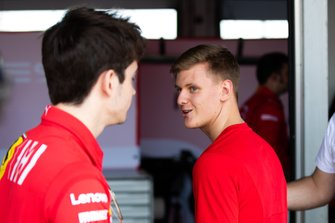 Charles Leclerc, 2017 Formula 2 champion and Mick Schumacher, PREMA RACING