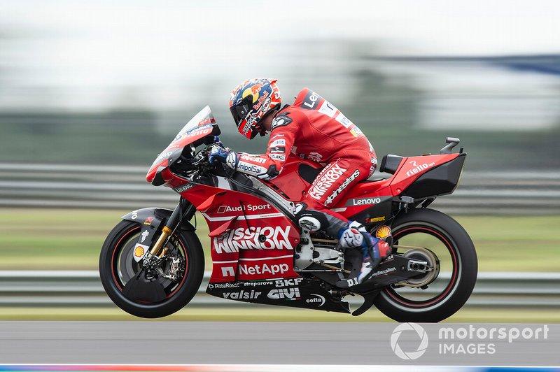 Andrea Dovizioso, Ducati Team practica una arrancada