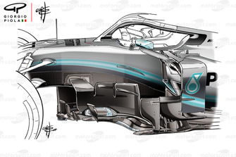 Mercedes AMG F1 W10, vecchie bargeboard