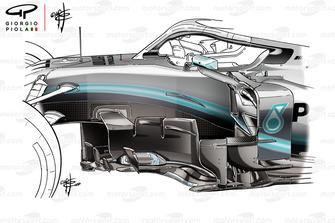 Mercedes AMG F1 W10, vecchie bargeboard