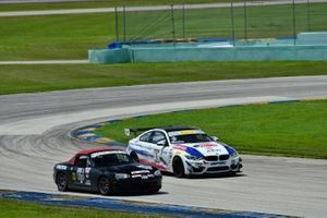 #611 MP4B Mazda Miata driven by Gregory Gilot of FAAS Racing, #3 MP2B BMW M4 GT4 driven by Randy Mueller & Michael Camus of Epic Motorsports