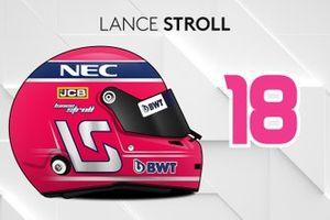 Le casque 2019 de Lance Stroll