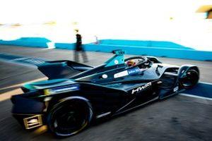 Stoffel Vandoorne, HWA Racelab, VFE-05, drives out of the garage