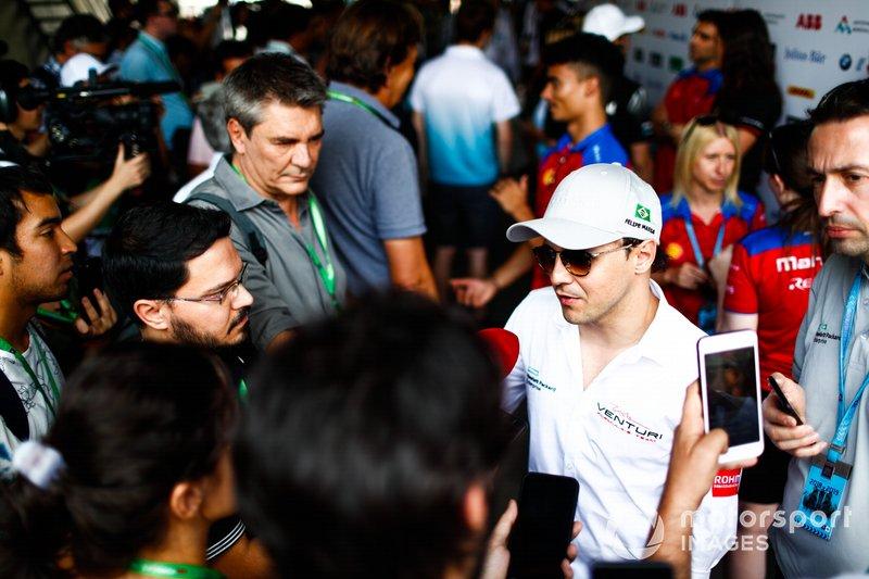 Felipe Massa, Venturi Formula E talks to the press