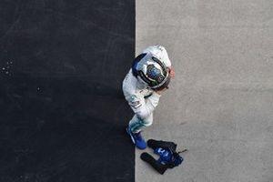 Valtteri Bottas, Mercedes AMG F1, deuxième, dans le Parc Fermé