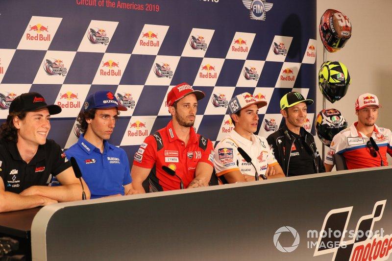 Roberts, Alex Rins, Team Suzuki MotoGP, Andrea Dovizioso, Ducati Team, Marc Marquez, Repsol Honda Team, Valentino Rossi, Yamaha Factory Racing, Jack Miller, Pramac Racing