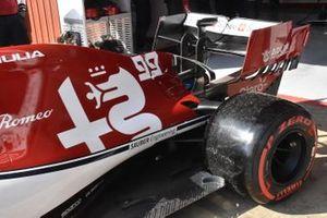Arrière de l'Alfa Romeo Racing C38