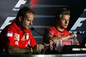 Rubens Barrichello, Ferrari y Kimi Raikkonen, McLaren