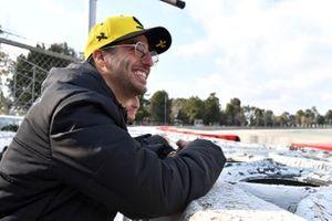 Daniel Ricciardo en Alain Prost, Renault F1 Team