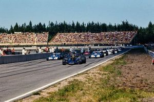 Ronnie Peterson, Lotus; Francois Cevert, Tyrrell; Emerson Fittipaldi, Lotus; Jackie Stewart, Tyrrell