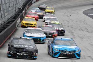 Corey LaJoie, Go FAS Racing, Ford Mustang DUDE Wipes, Martin Truex Jr., Joe Gibbs Racing, Toyota Camry Auto Owners Insurance