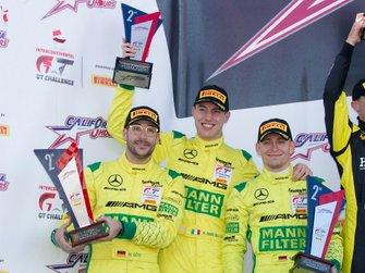 Podium: second place #999 Mercedes-AMG Team GruppeM Racing Mercedes-AMG GT3: Maximilian Buhk, Maximilian Götz, Raffaele Marciello
