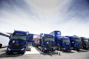 PATA Yamaha WorldSBK Team race trucks