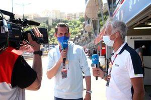 Matthias Killing and Christian Danner, TV expert for Sat1-TV