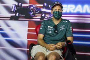 Sebastian Vettel, Aston Martin in the Press Conference