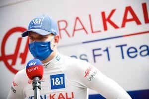 Mick Schumacher, Haas F1, is interviewed