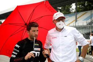 Mike Rockenfeller, Abt Sportsline, Chris Reinke, Head of Audi Customer Racing