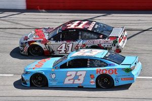Bubba Wallace, 23XI Racing, Toyota Camry Root Insurance and Cole Custer, Stewart-Haas Racing, Ford Mustang HaasTooling.com Mother's Day