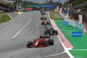Charles Leclerc, Ferrari SF21, Valtteri Bottas, Mercedes W12, Daniel Ricciardo, McLaren MCL35M