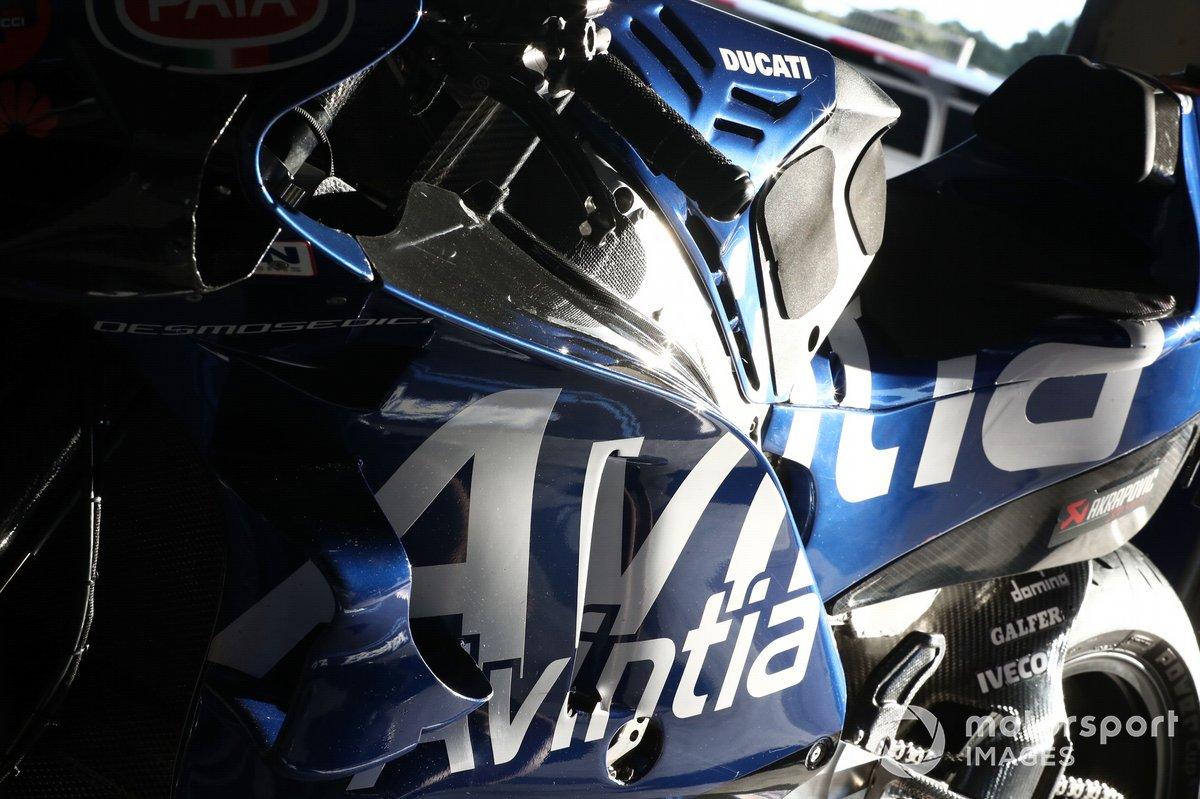Detalle de la moto de Esponsorama MotoGP