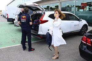 Geri and Christian Horner, Team Principal, Red Bull Racing
