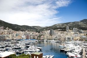 Yachts in the harbour and the Monaco skyline beyond