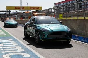 The Medical car and Safety Car in the pit lane
